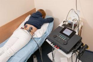 Electrophoresis is prescribed to patients for the treatment of back pain and cupping of the inflammatory process